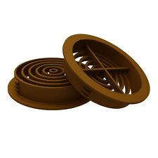 10 x Golden Oak / Tan Plastic 70mm Round Soffit Air Vents / Push in Roof Disc