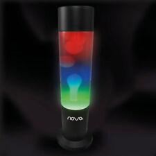 Rainbow Multi Coloured Lava Lamp Black Base Retro Mood Lighting Table Desk Light