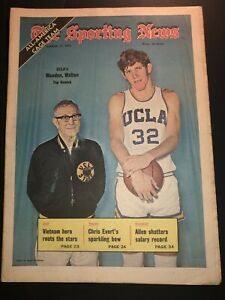 1973 Sporting News UCLA BRUINS #1 Bill WALTON John WOODEN No Label ALL AMERICAN