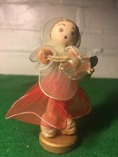 Vintage Christmas Spun Silk Angel Made In Japan 4 Inches High From The Fifties!