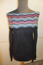 Missoni Off the shoulder Black Blouse - Size 10