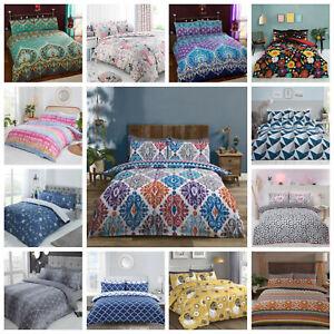 Duvet Cover Bedding Set + Pillowcase Single Double King Size Stylish Quilt Cover