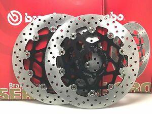 DUCATI MONSTER S2 R 1000 DARK 2007 COPPIA DISCHI FRENO ANTERIORE BREMBO ORO