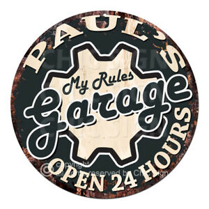 CPGO-0013 PAUL'S Garage Rules Sign Valentine's Father's Day Gift for Men