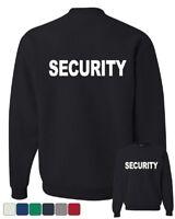 Security Sweatshirt Bouncer Police Event Staff Uniform Guard Sweater