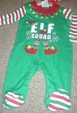 Bebé Navidad Elfo escuadrón Pelele Talla 0-3 meses BNWT 100% algodón