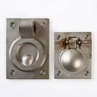 Flush Pull Ring Handle Sliding Cupboard Cabinet Door Drawer Recessed Furniture J