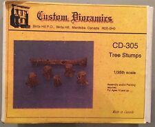 Custom Dioramics 1:35 Tree Stumps CD-305