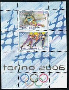 BOSNIA,OLYMPIC games 2006 sheet type I ,RR ,MNH a