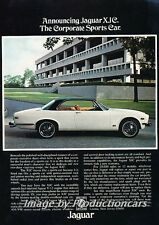 1976 Jaguar XJC Coupe XJ Original Advertisement Print Art Car Ad J677