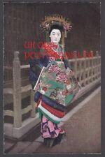 JAPAN - Pretty White Faced Geisha Girl.