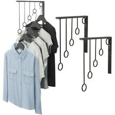 Wall Mounted Garment Clothes Rail Home Shop Dress Hanging Display Rack 2/3pcs