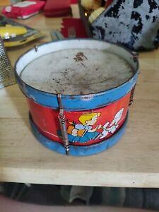 Vintage Ohio Art Tin Litho Toy Drum Little Bo Peep