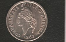 Usa Token Confederete States Of America Half Dollar 1862 Fantasy