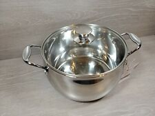 MasterChef the TV Series 7 Qt Stock Pot With Lid Stainless Steel Brand New