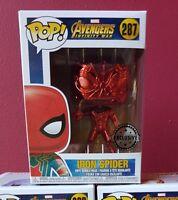 AVENGERS IRON SPIDER SPIDER-MAN CHROME EXCLUSIVE FUNKO POP VINYL *NEW/MINT* RARE