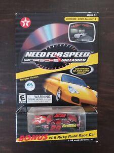Action Bonus  #28 Ricky Rudd Porsche Race Car Texaco 1:64 scale CD game included