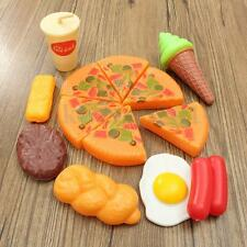 13pcs Plastic Pizza Cola Ice Cream Food Children Kids Pretend Role Play Toy Set