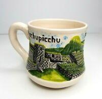 Souvenir Mug Machupicchu Peru Ruins Unmarked Pottery Handmade Coffee Tea Cup