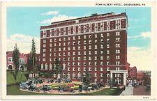 Penn Albert Hotel in Greensburg PA Postcard