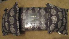 5pcs Cremieux Sebastien Paisley Full/Queen Mini Quilt Shams Set 2 Pillows Black