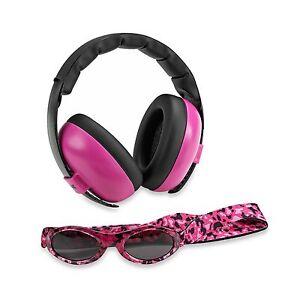 Baby Banz mini earmuffs combo Magenta Earmuffs + Sunglasses 0-2