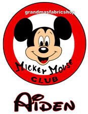 NEW Personalized Custom Mickey Mouse club t shirt party favor birthday gift