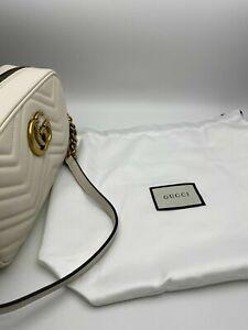 Gucci High Quality Marmont Small Matelassé Shoulder Bag White