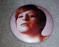VERY RARE Vintage Barbra Streisand promo pin 1960's photo