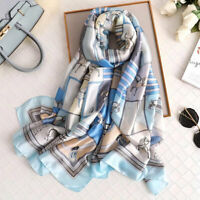 Luxury Brand Silk Women Scarf 2019 New Designer Long Scarves Shawls Wraps