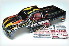 NEW Traxxas Stampede Body Black & Orange Pre-Painted ProGrafix XL5 VXL 3617 3615