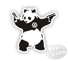 Banksy Panda With Guns Graffiti VW Car Van Sticker Stickers Decal Funny Sticker
