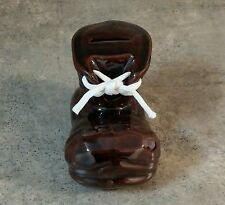 Brown Boot Shaped Ceramic Piggy Bank