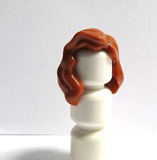 Lego 1 Hair Wig For Female Girl Minifigure  Long Wavy Orange Ginger
