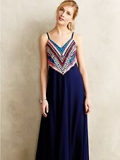 Anthropologie Prism Point Maxi Dress Gown Mara Hoffman Blue Size Small $398.00