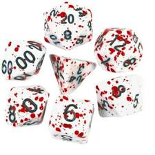 7Pcs Bloody Polyhedral Dice DND Game Dices for RPG Dungeons & Dragons Table Game