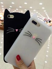 Cute Cat Case For Samsung Galaxy Huawei Silicone Cover Skin Girl Gift