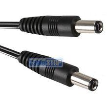 SHORT 50cm - 2.5mm DC Power Male Plug 5.5mm Lead CCTV DVR Camera Jack Cable 0.5m