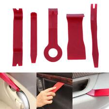 Red Nylon 5pcs Exterior/Interior Trim Door Panel Dashboard Centre Pry Open Tools