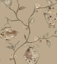 Holden China Garden Gold Chinese Floral Feature Wallpaper 11139