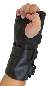 Bane Glove Tdkr Costume Wrist Protector Sheep Skin Brown