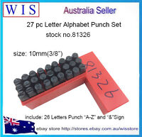 "27PC Metal Letter Stamp Punch Set Alphabet Carbon Steel Craft,10mm(3/8"")-81326"