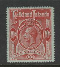 Falkland Islands 1912-20 George V 10/- Red/ green SG 68 Mint.