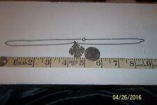 Vintage Sterling Silver Catholic Saints Cross Medal Pendant necklace 253239