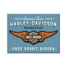 Harley Davidson Magnet Logo blue Souvenir Kühlschrank Fridge 8cm