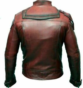 Guardians of the Galaxy 2 Chris Pratt Maroon Real Leather Jacket
