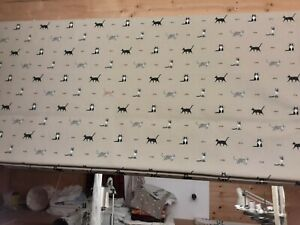 Roman Blind, Sophie Allport Purrfect fabric (Made to measure)