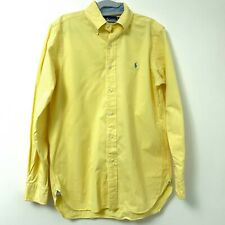 Ralph Lauren Polo Yellow w/ Blue Pony Button Down Long Sleeve Shirt Men's Small