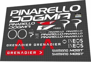 2022 Pinarello DOGMA F Grenadier white DECAL SET