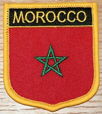 MOROCCO Shield Country Flag Embroidered PATCH Badge P1